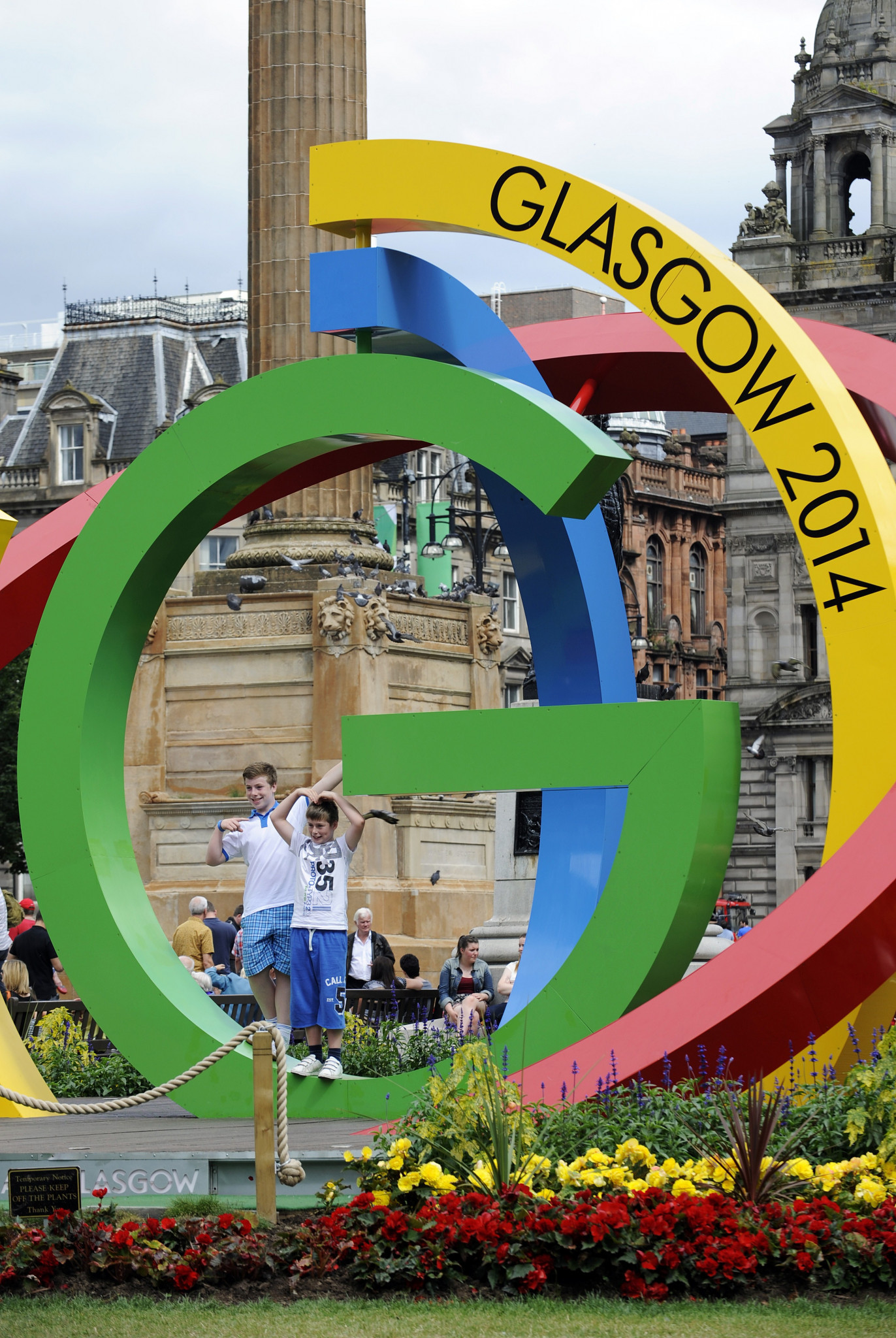 A sculpture known as 'The Big G' is pictured in Glasgow in Scotland,ahead of the start of the 2014 Commonwealth Games ©Getty Images