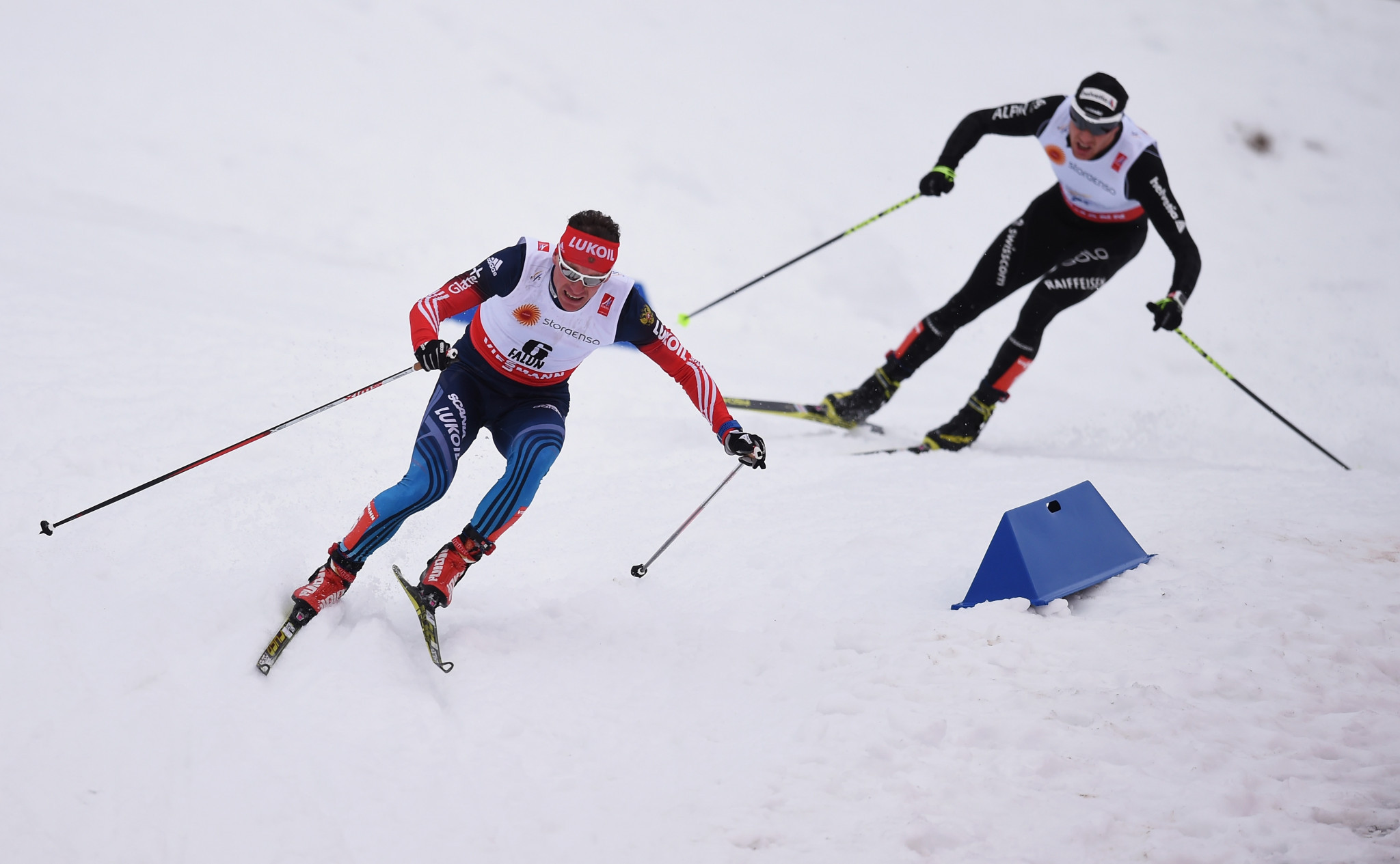 A total of 11 cross-country skiers, including Maxim Vylegzhanin, left, have been sanctioned by the IOC ©Getty Images