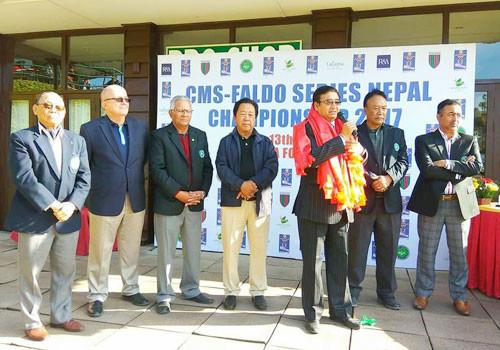 Nepal Olympic Committee President  Shrestha closes CMS-Faldo Series Nepal Championship at Gokarna Golf Course
