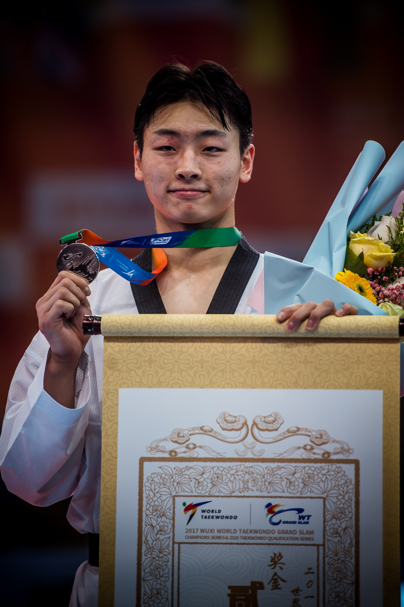 Nineteen-year-old Namgoong had to settle for the silver medal ©World Taekwondo
