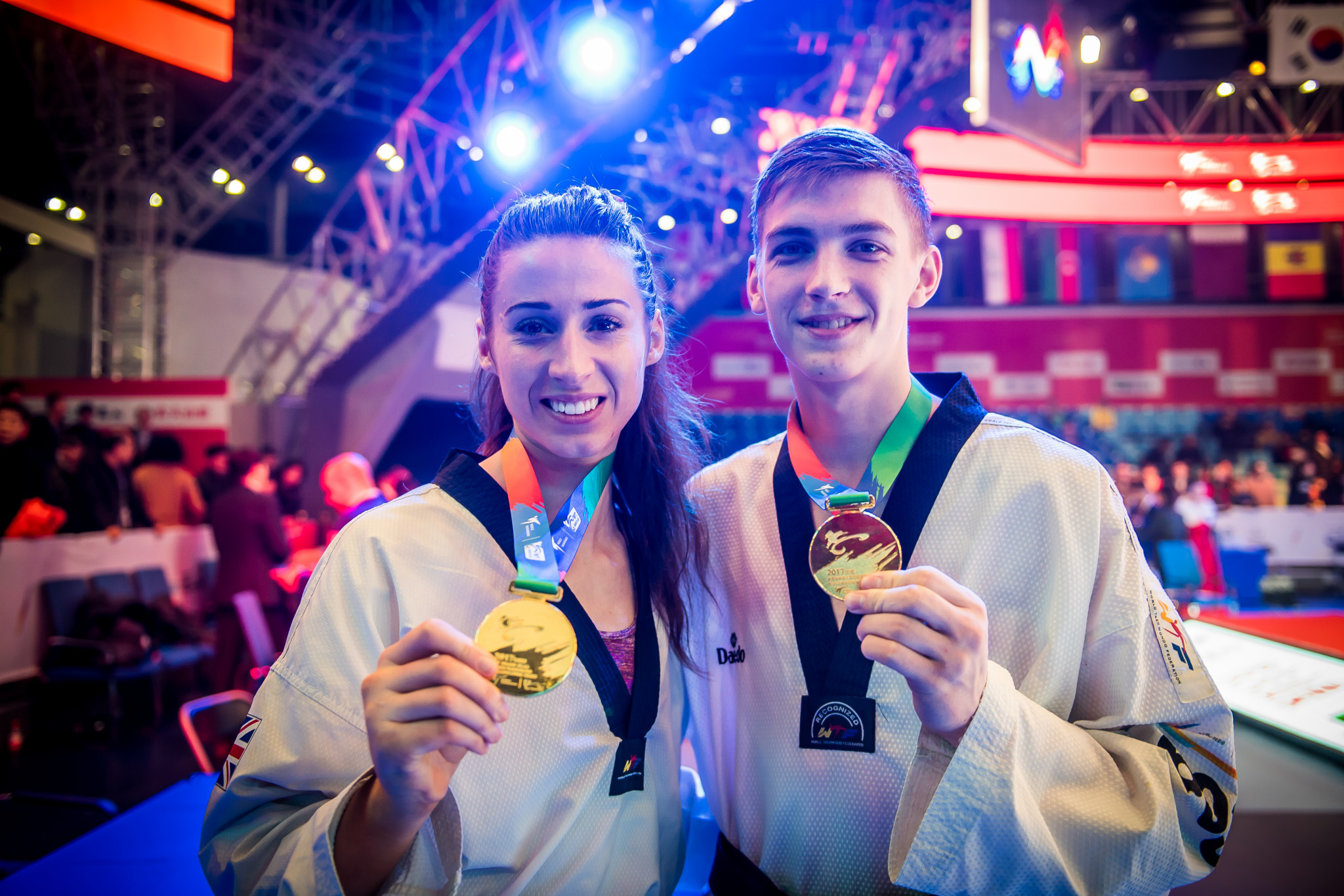 Great Britain's Bianca Walkden and Russia's Maksim Khramtcov won the respective women's over 67 kilograms and men's under 80kg gold medals at the inaugural event of the World Taekwondo Grand Slam Champions Series in Chinese city Wuxi ©World Taekwondo