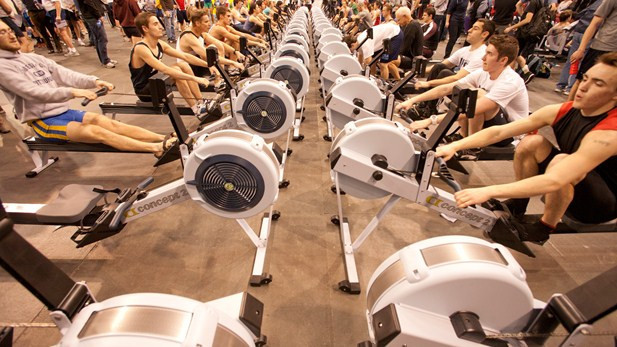 It is hoped that the indoor rowing event will feature over 2,500 competitors ©World Rowing