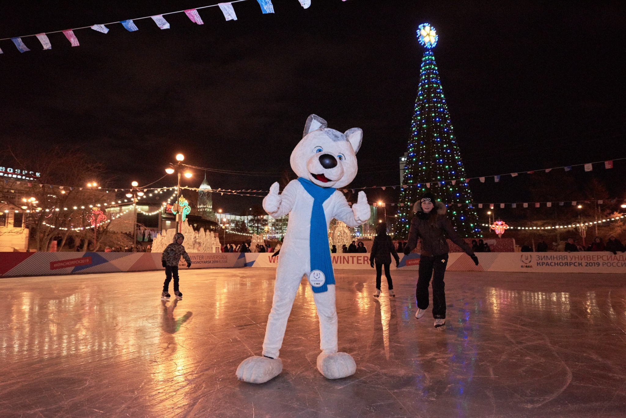 Krasnoyarsk New Year celebrations take place on Universiade 2019 site