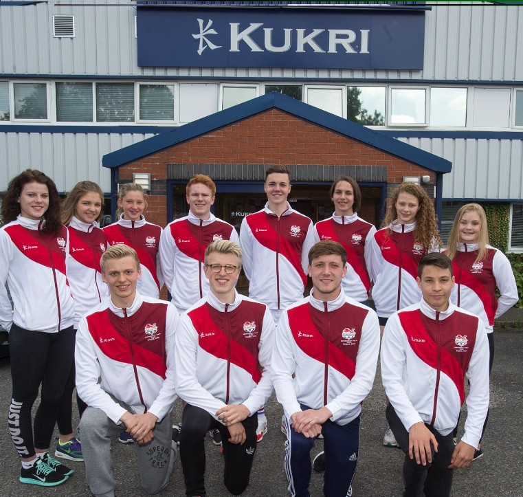 England's swimming team have been given their brand-new kit as preparations for the event continue