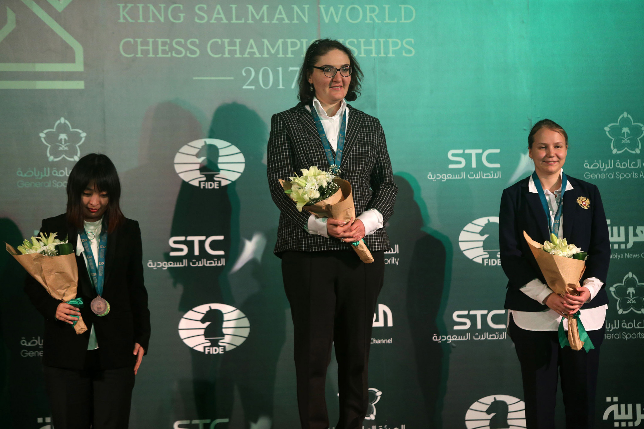 Nana Dzagnidze won the women's World Blitz title in Riyadh ©Getty Images