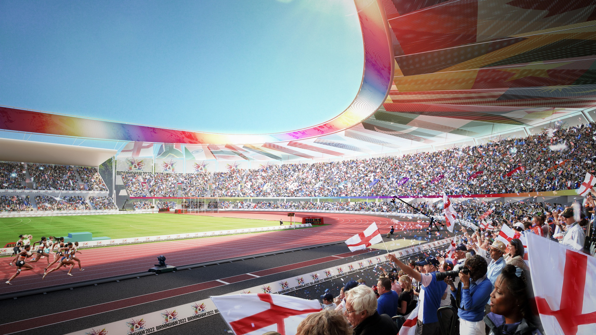 A re-vamped Alexander Stadium, in the run-down Perry Barr area of Birmingham will be the jewell in the Games' crown ©Birmingham2022