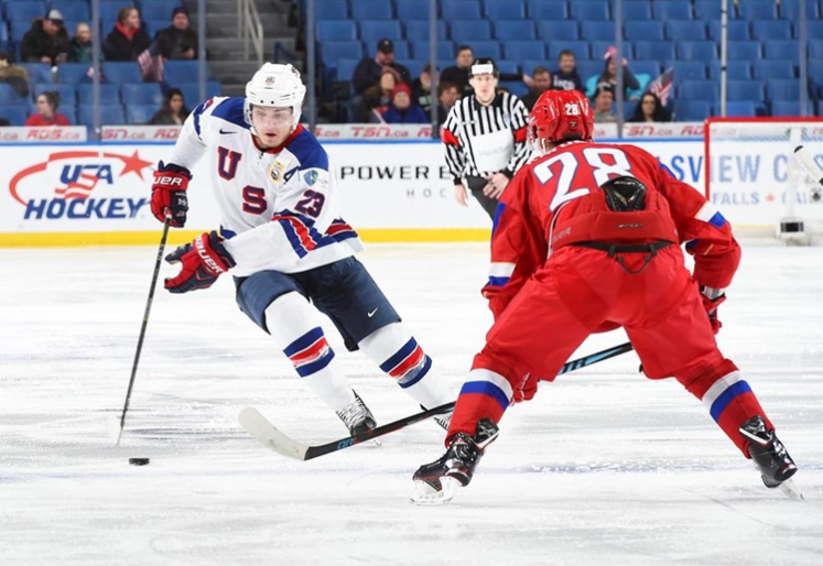 United States beat Russia to reach IIHF World Junior Championships last four