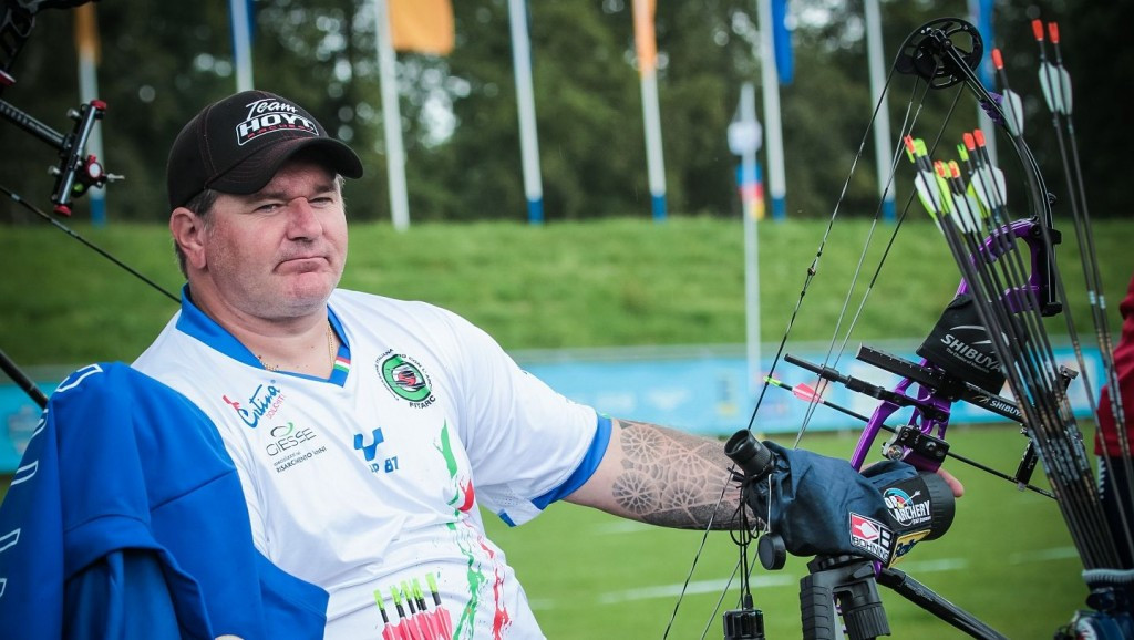 Italians set compound men's open world record at World Archery Para Championships