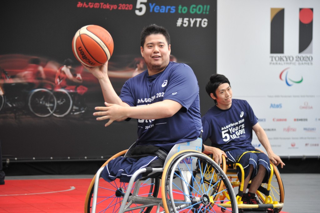 Paralympian Hiroaki Kozai was one of the wheelchair basketball players who got involved with the event
