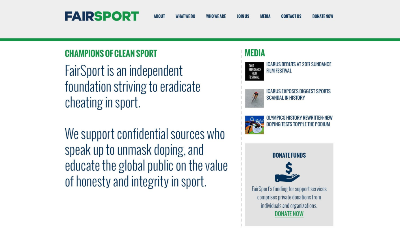 FairSport is a new organisation aiming to help whistleblowers in sport ©FairSport