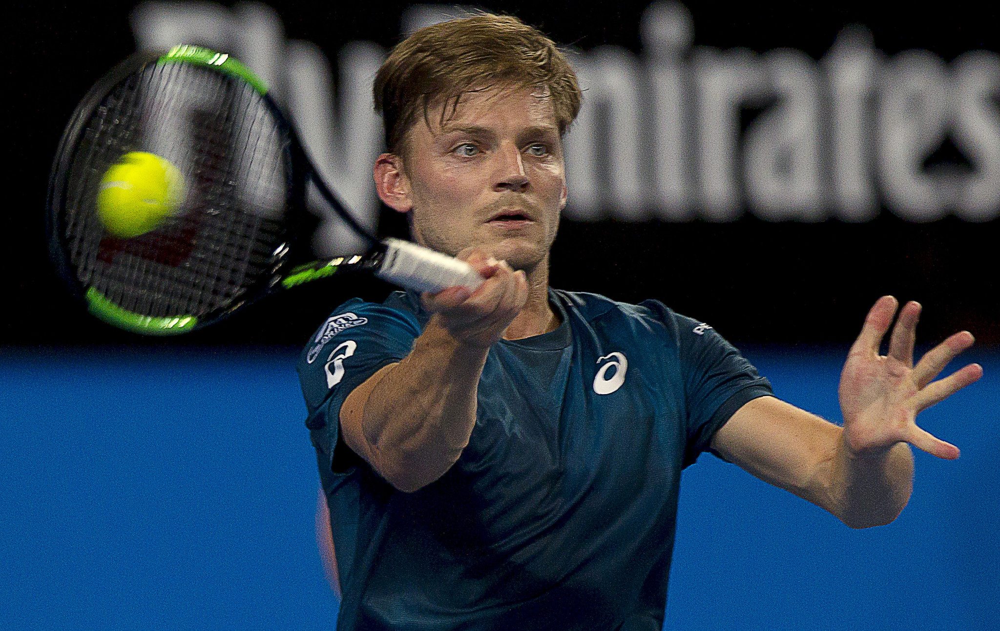 David Goffin beat Thanasi Kokkinakis in straight sets ©Getty Images