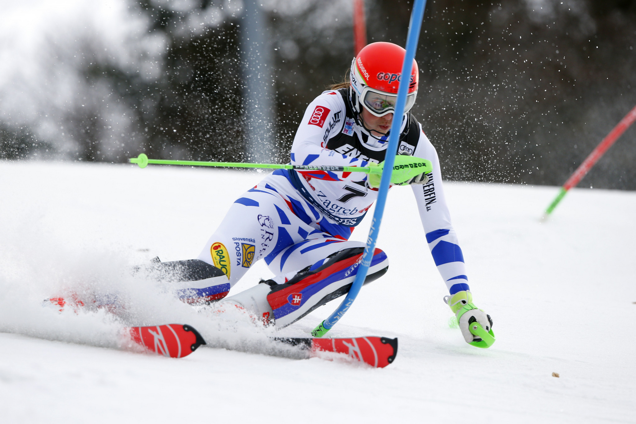 Despite failing to finish on the podium in Zagreb, Slovakia's Petra Vlhová is still second in the slalom rankings ©Getty Images