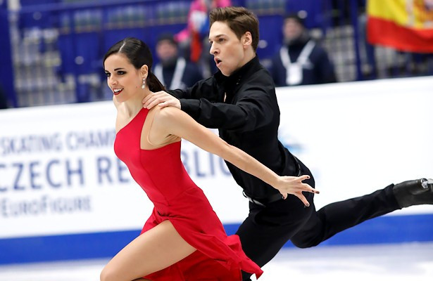 Spain's Sara Hurtado and Kirill Khalaviavin sealed a spot at Pyeongchang 2018 at the competition in Zagreb ©Golden Skate