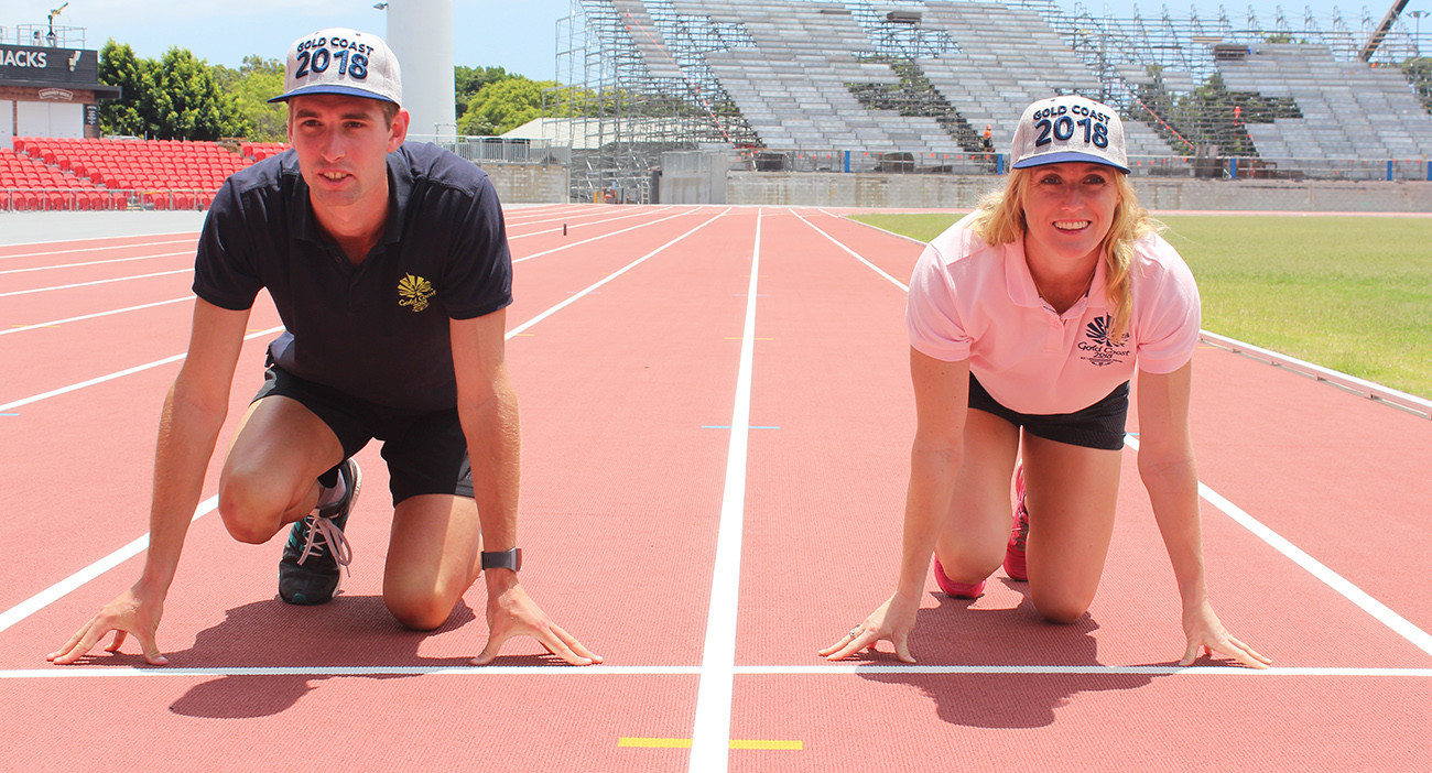 Dubler and Pearson test out Gold Coast 2018 athletics track