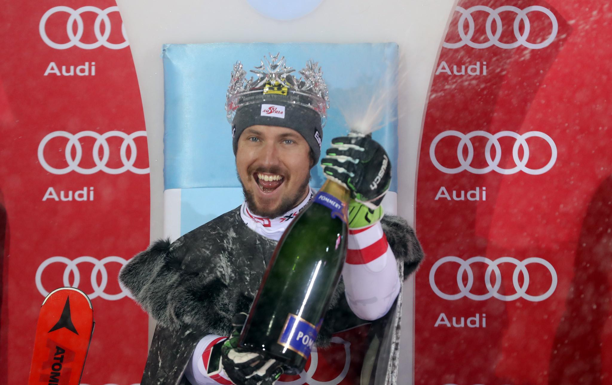 Hirscher wins Snow Queen Trophy at FIS Alpine Ski World Cup in Zagreb