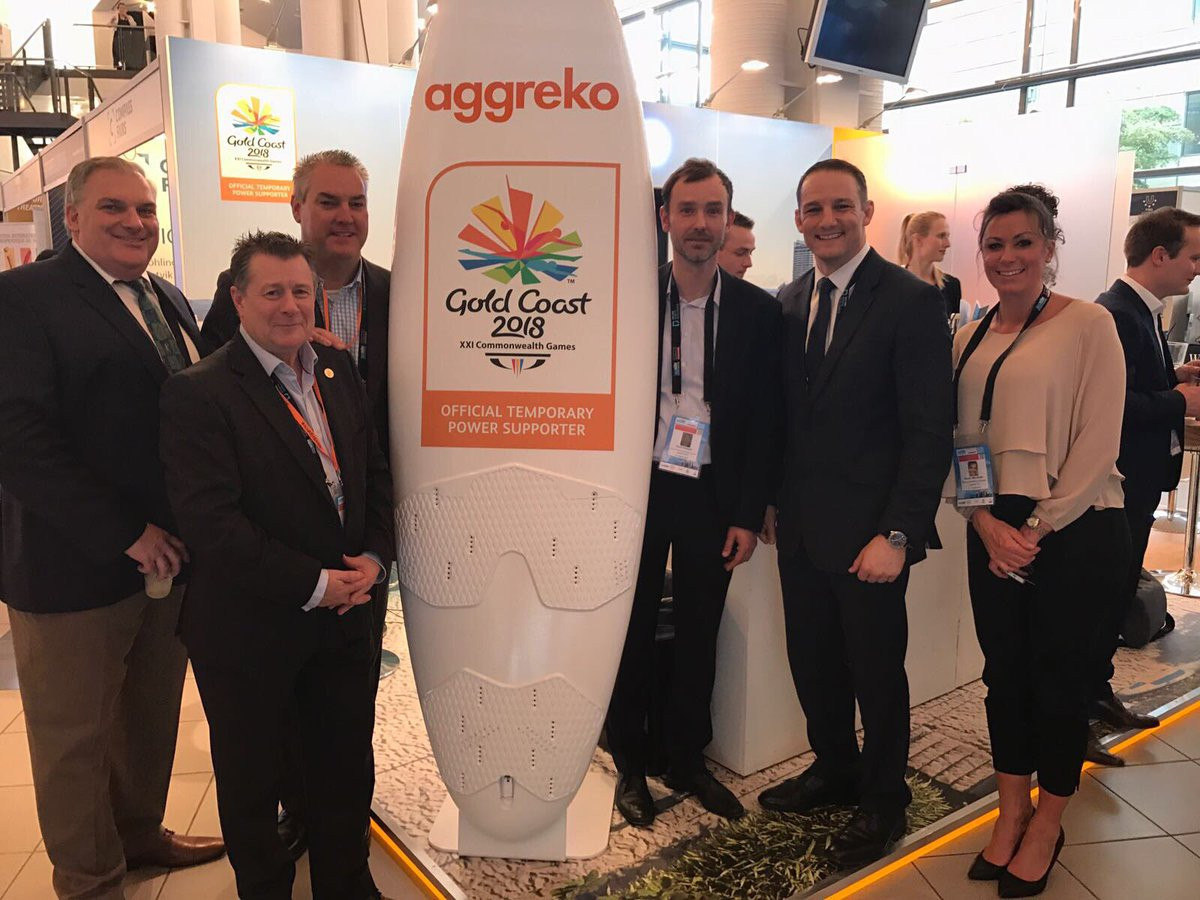 Aggreko have also been appointed by Gold Coast 2018 to work on the Commonwealth Games ©Aggreko