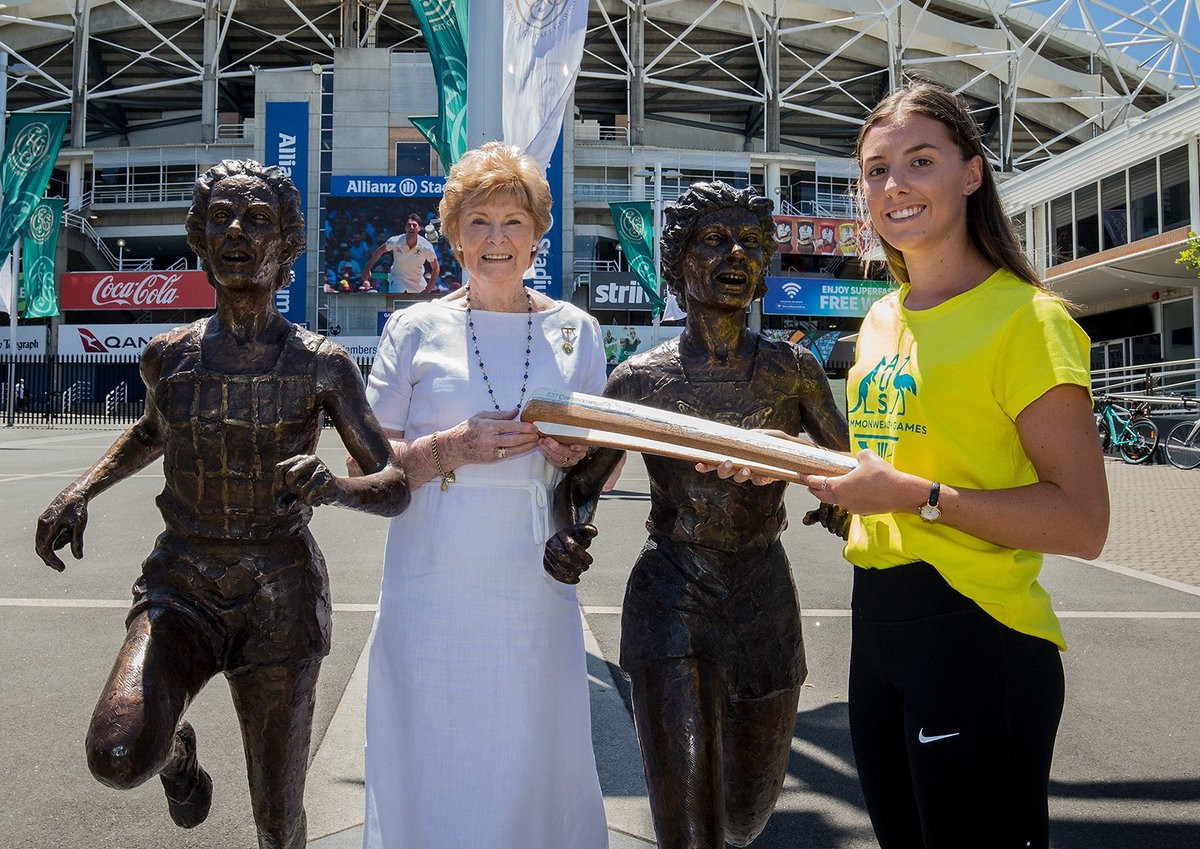 Gold Coast 2018 Queen's Baton visits Ashes Test at Sydney Cricket Ground
