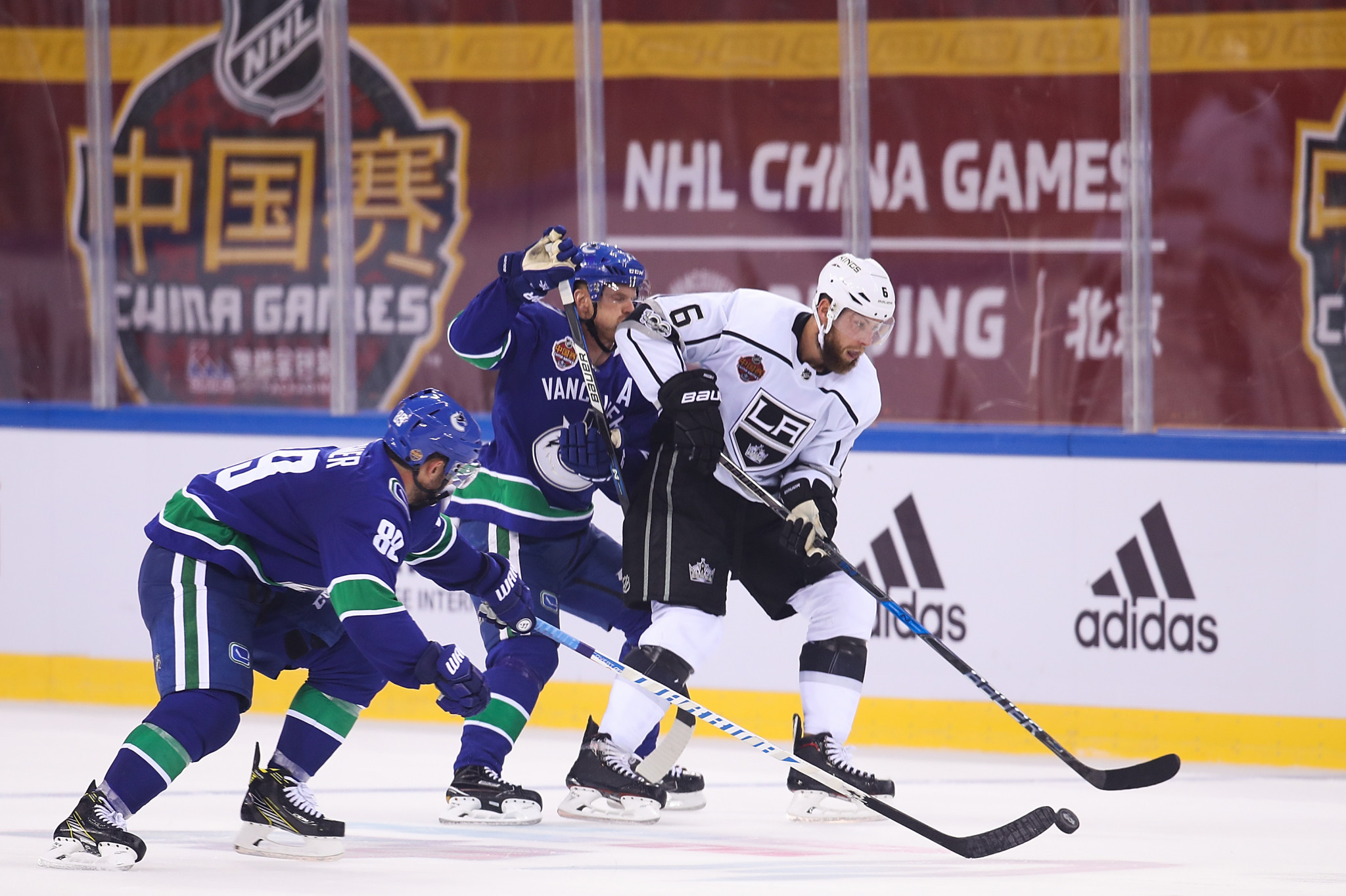 An NHL pre-season game took place in China between the Vancouver Canucks and the Los Angeles Kings in 2017 ©Getty Images