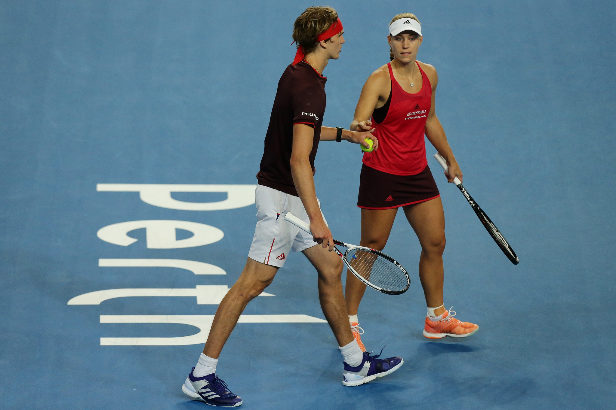 Zverev and Kerber will now face Federer and Bencic in tomorrow's Hopman Cup final ©Getty Images