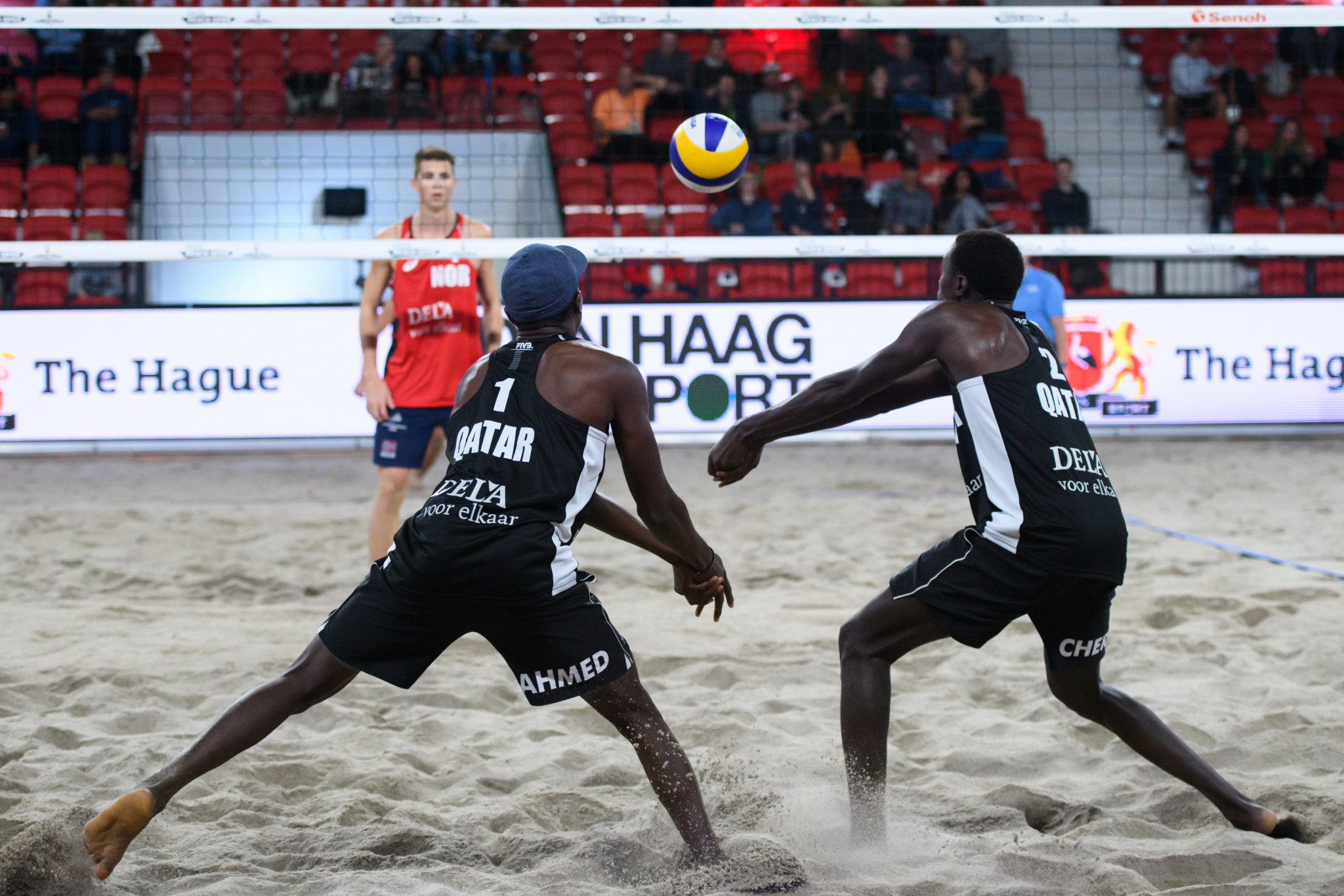 Qatari duo qualify for knock-out round in first appearance on FIVB Beach World Tour