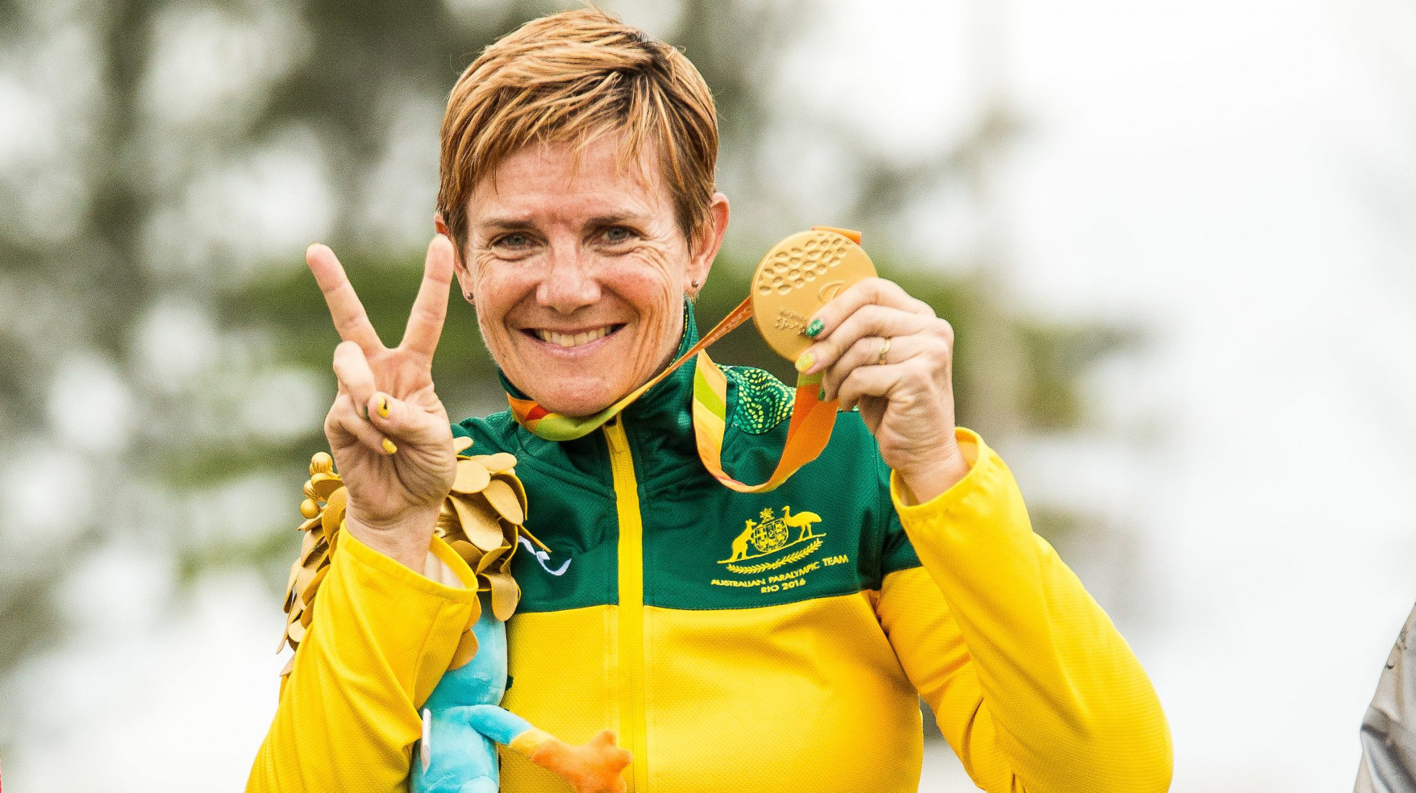Carol Cooke, above, and fellow Rio 2016 gold medallist David Nicholas completed a time trial and road race double ©Australia Paralympic Committee