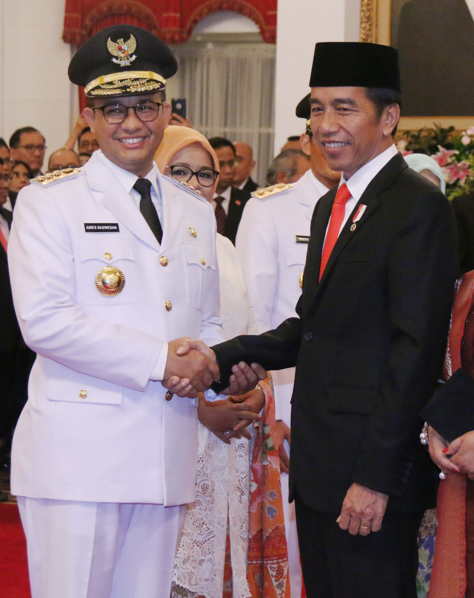 Anies Baswedan, pictured on the left here with Indonesia President Joko Widodo, is the current Governor of Jakarta ©Getty Images