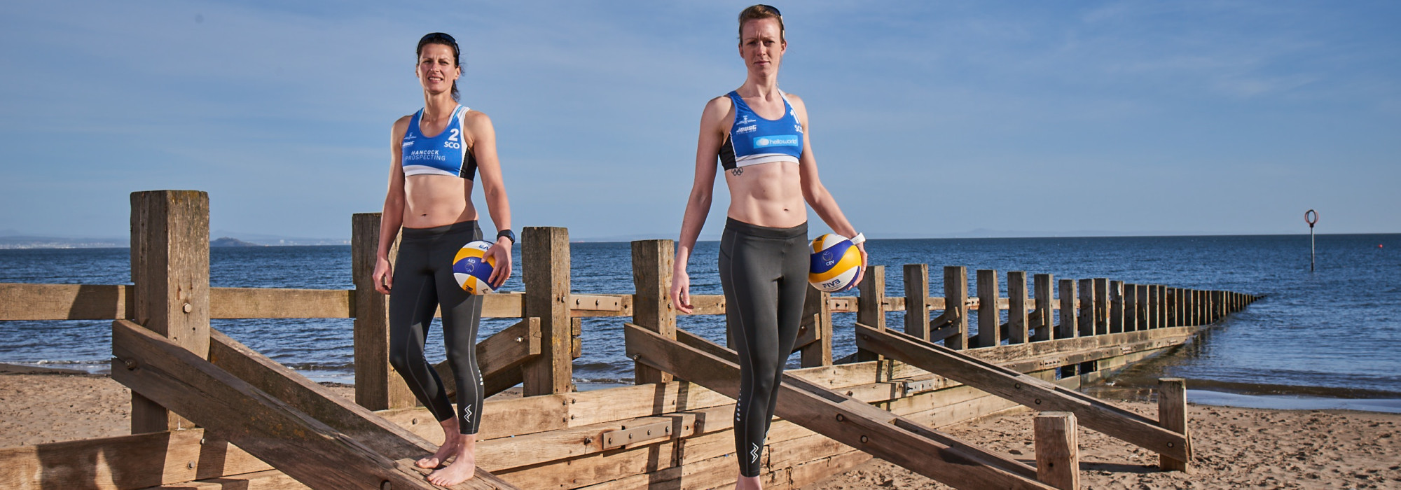 Lynne Beattie and Melissa Coutts secured a Scottish beach volleyball spot at Gold Coast 2018 ©Team Scotland