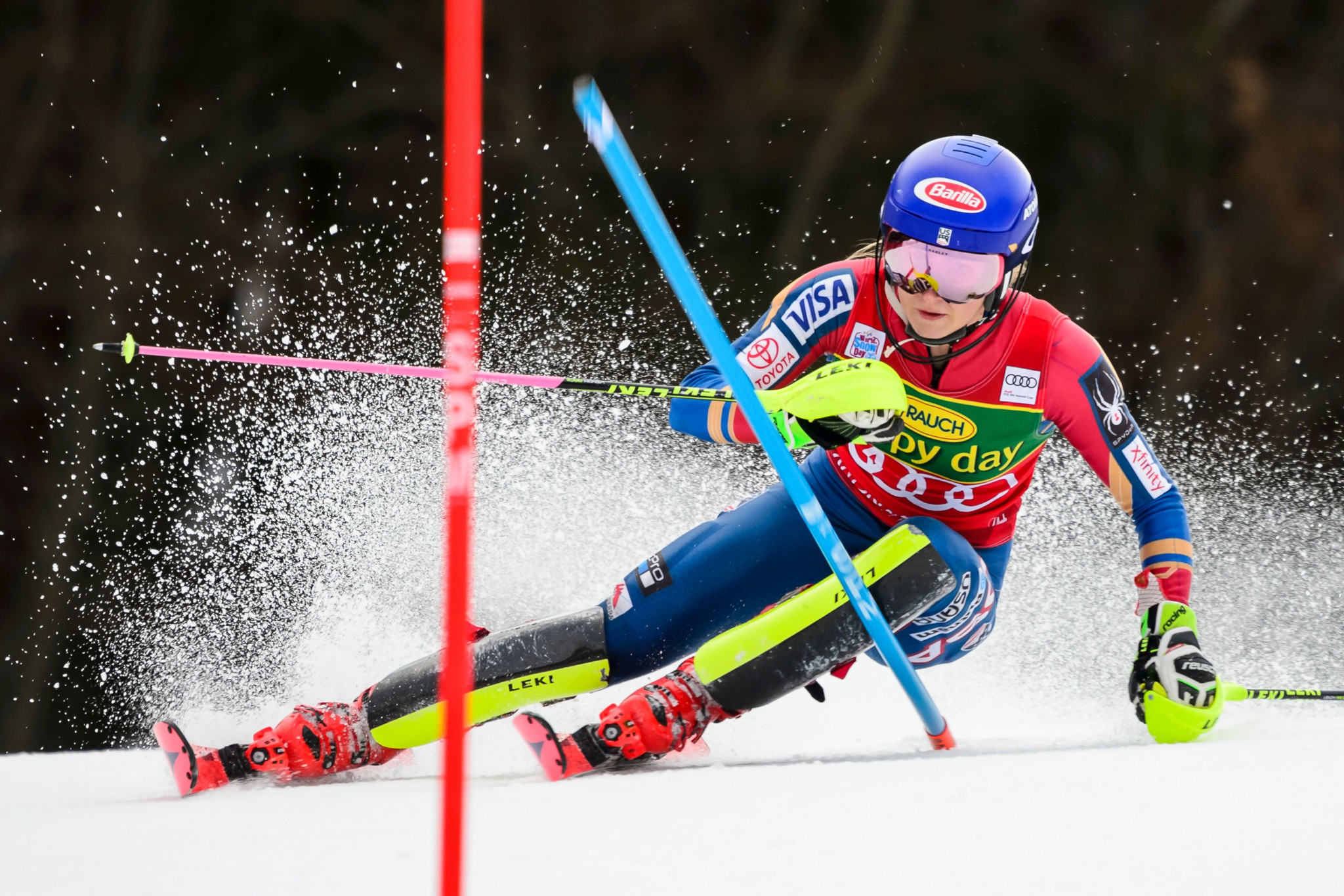 Mikaela Shiffrin continued her sensational form today ©Getty Images
