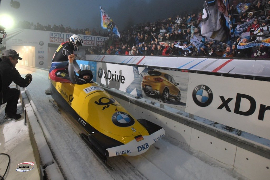 Walther edges Friedrich in German bobsleigh duel at IBSF World Cup