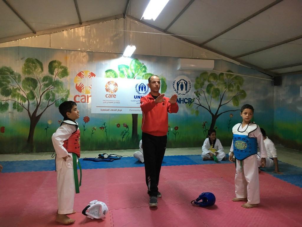 Taekwondo Humanitarian Foundation coach speaks of work at Azraq Refugee Camp
