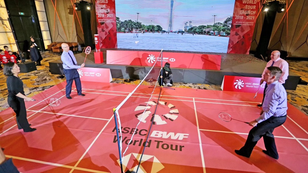 The launch event also saw HSBC confirmed as the global principal partner of the BWF ©BWF