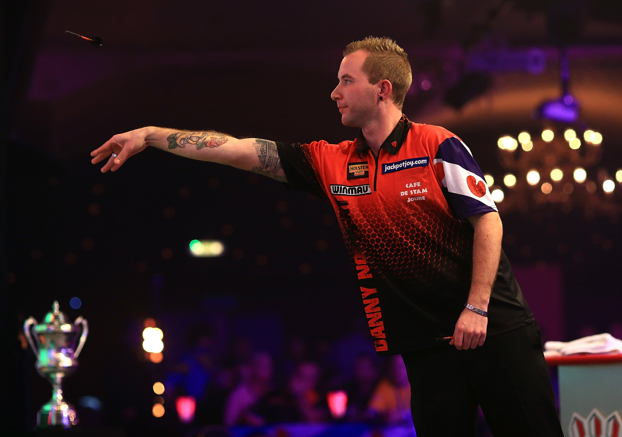 Danny Noppert eased through his first round match at Lakeside ©Getty Images