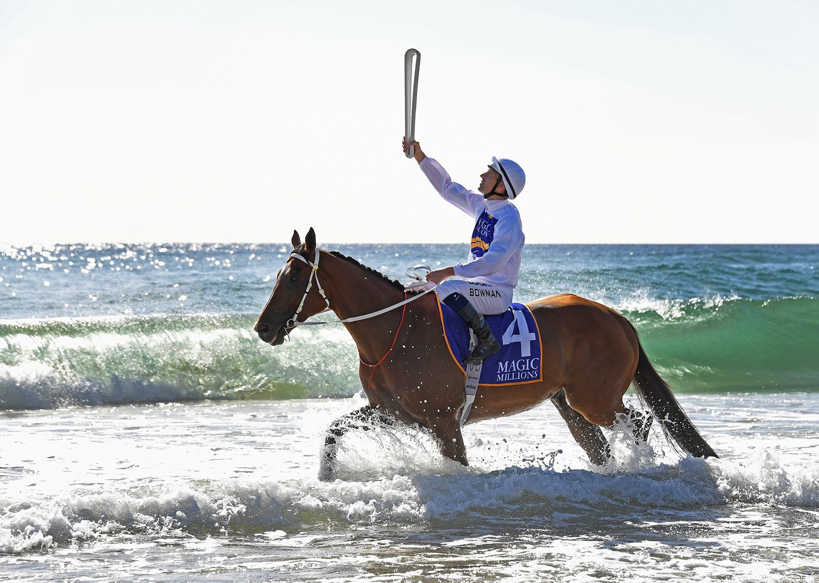 Queen's Baton makes first appearance in Gold Coast at Magic Millions Barrier Draw