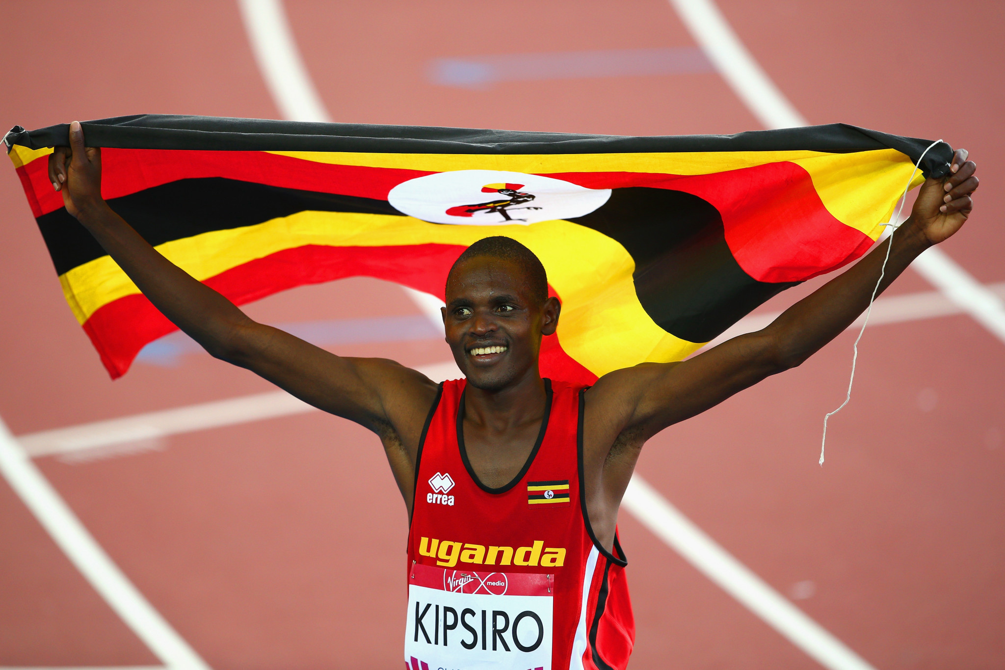 Moses Kipsiro won a gold medal for Uganda at Glasgow 2014 ©Getty Images
