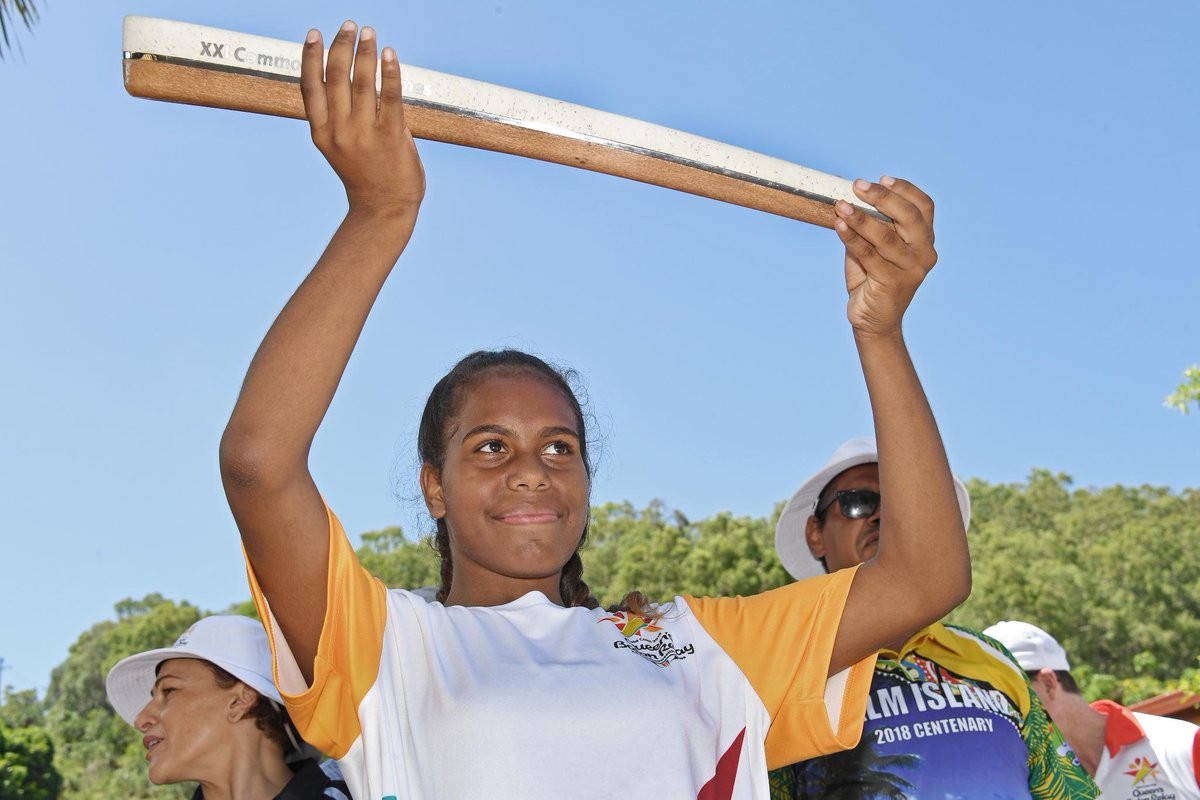 Gold Coast 2018 Queen's Baton visits aboriginal community Palm Island for first time
