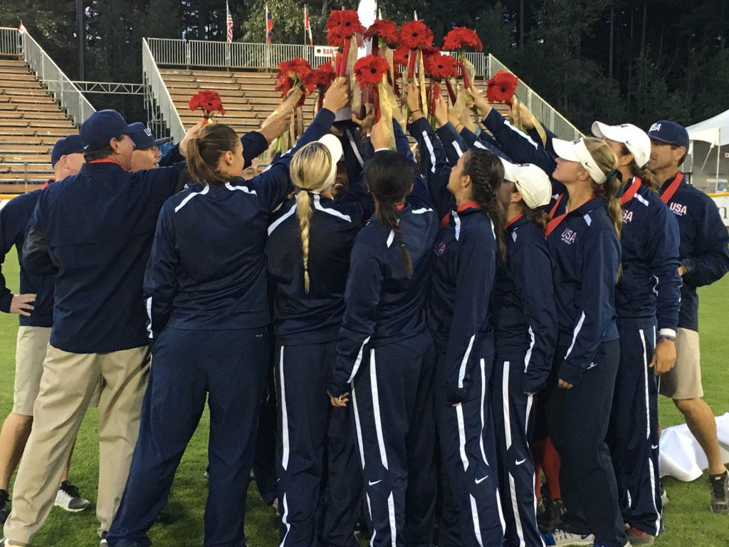 The United States are the reigning women's softball world champions ©WBSC