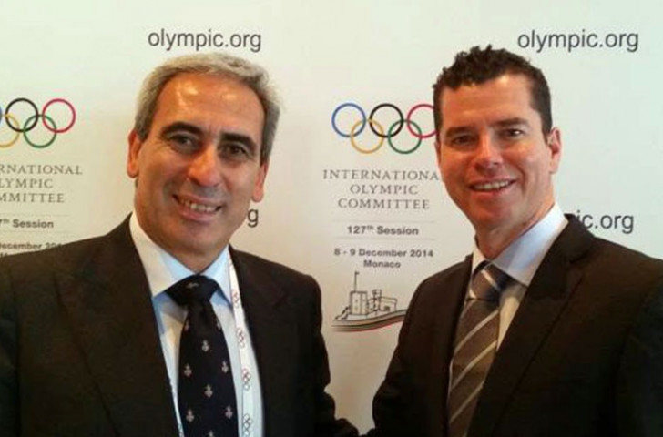 ARISF President Raffaele Chiulli pictured with IOC Sports Director Kit McConnell earlier this week ©ARISF