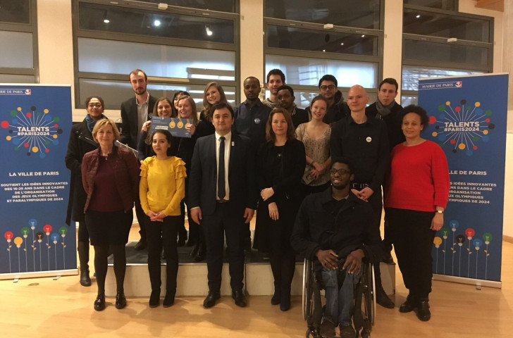 Shortlisted entrants gather for the judging of the Talents #Paris2024 competition ©CityofParis