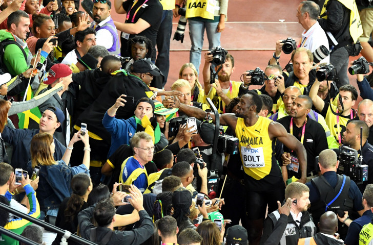 Usain Bolt, pictured after earning his last individual sprinting medal, a 100 metre bronze, at last summer's IAAF World Championships in London. Athletics came out best of 17 sports, including football, during a survey of British TV viewers ©Getty Images