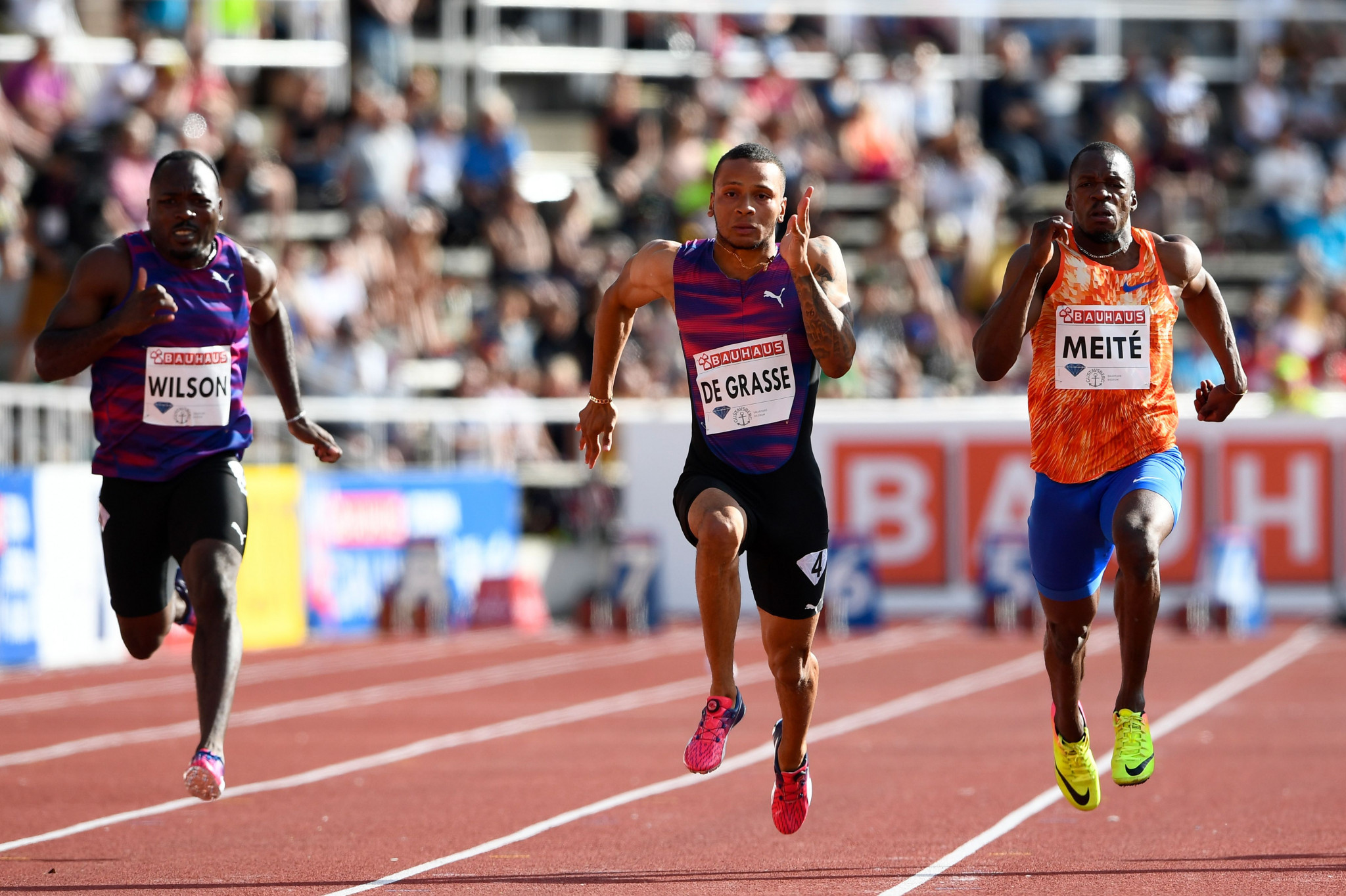 Sprinter Andre De Grasse has also been selected on the Canadian team ©Getty Images