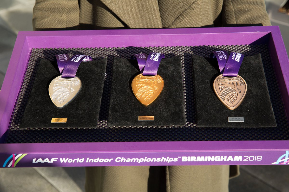Medals revealed for World Indoor Athletics Championships in Birmingham