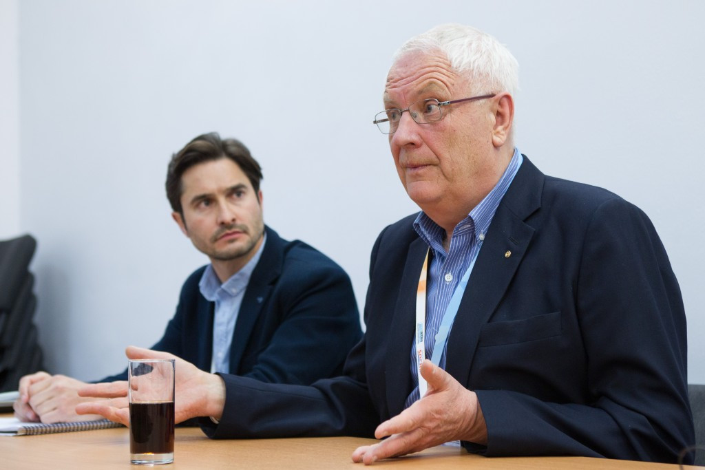 Svein Arne Hansen (right), has backed the concept behind the 2018 European Sports Championships ©Getty Images
