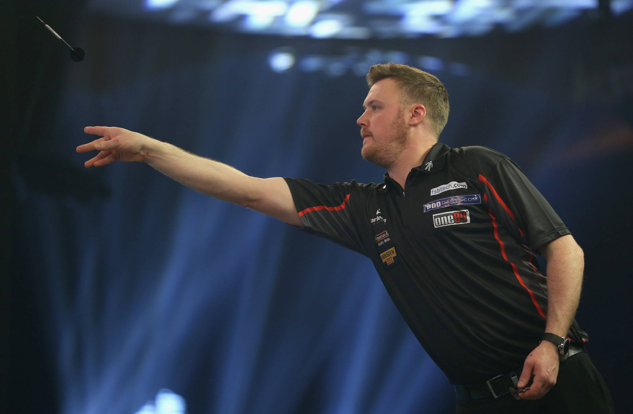 Welshman Jim Williams booked a quarter-final place at the British Darts Organisation World Championships for the first time ©Getty Images