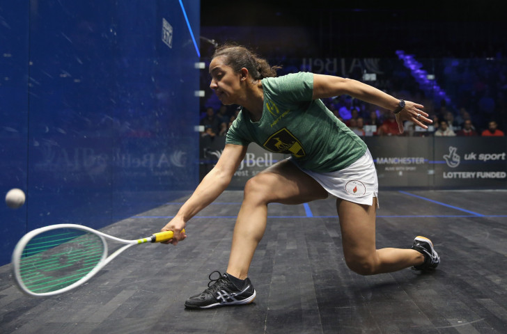 Egypt's world number one Raneem El Welily earned an epic five-games victory over US player Amanda Sobhy to reach tomorrow's semi-finals of the DPD Open in Eindhoven ©Getty Images