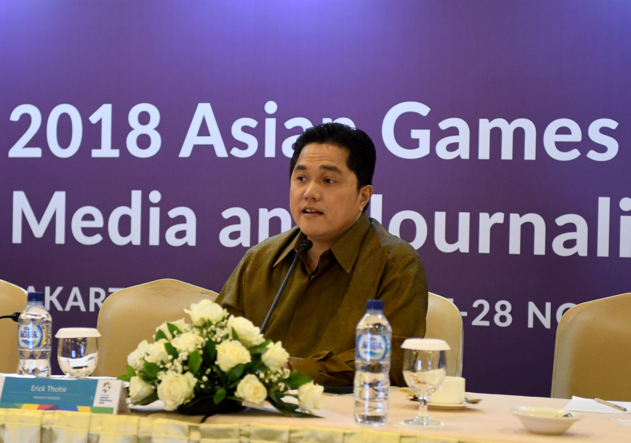 Organising Committee President Erick Thohir is set to hold talks with the Coordination Committee during the visit ©Getty Images