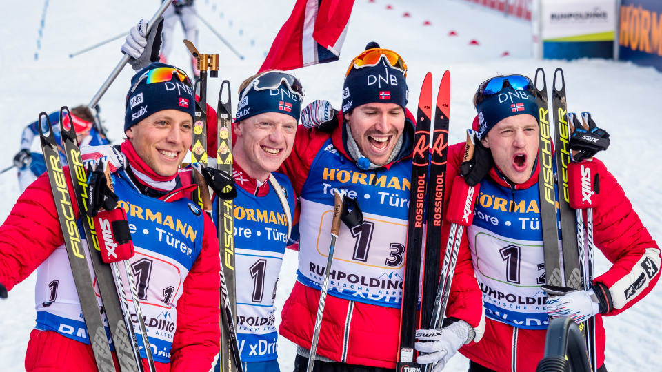 Norway win men's relay at IBU World Cup in Germany