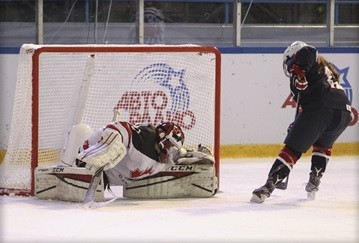 The United States overcame Canada in a dramatic shootout to reach the final ©IIHF