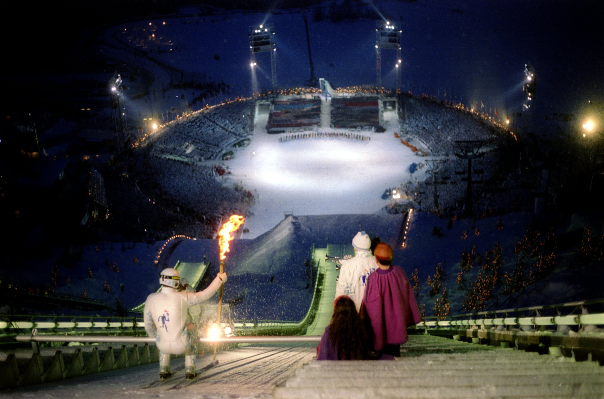 The Lillehammer 1994 Winter Olympic Opening Ceremony was recorded to be minus 11 degrees celsius ©Getty Images
