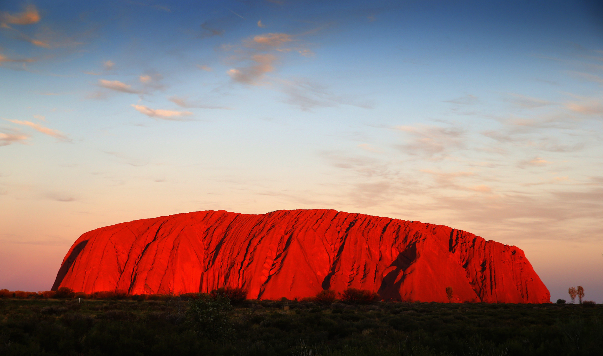 Ayers Rock is the most famous attraction in the Uluru-Kata Tjuta National Park ©Getty Images