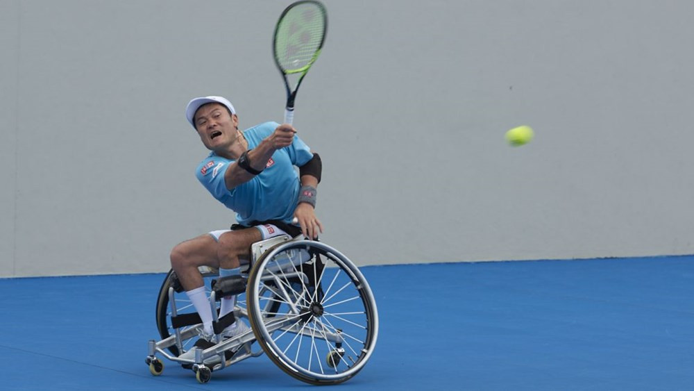 Japan's Shingo Kunieda won the men's singles title in Sydney ©ITF/Tom Brassil